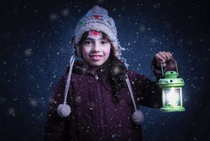 photo of girl in the snow