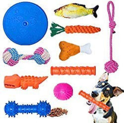 Click here to buy the 10-Piece Dog Toy Set on Amazon Button