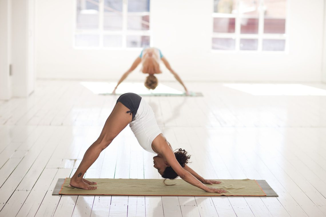 Photo of a woman in a yoga studio