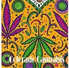 cannabis adult coloring book