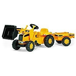 pedal power excavator and trailer toy