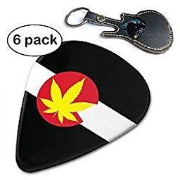 Colorado flag and pot leaf guitar-picks