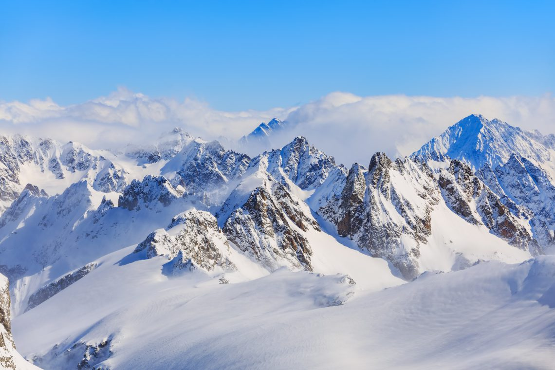photo of a mountain peak at high elevation