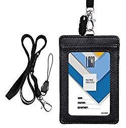 leather ski pass holder