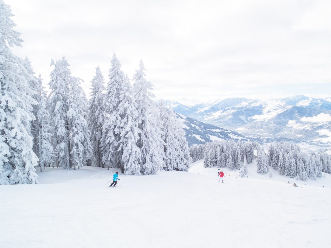 photo of people skiing on ski run
