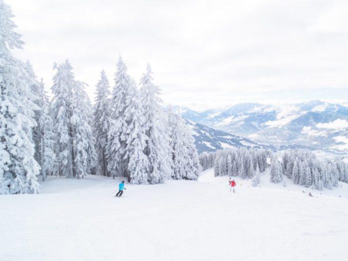 photo of people skiing on ski run