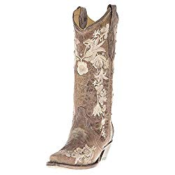 Corral Studs & Flowers Cowboy Boot