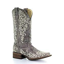 Corral Bone Embroidery Cowboy Boot