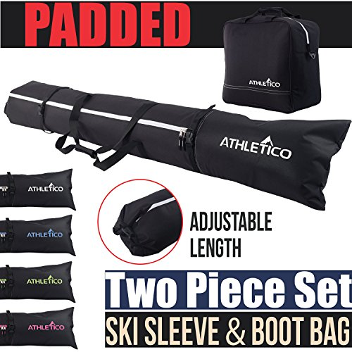 Athletico Padded Two-Piece Ski & Boot Bag Combo