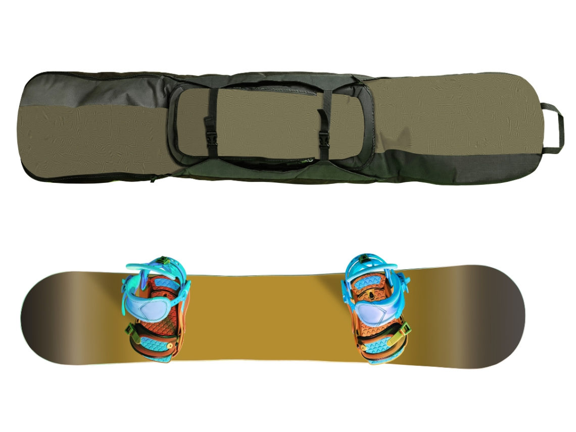 Snowboard and Snowboard Travel bag