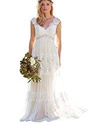 Dresesonline Backless Lace Wedding Dress