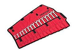 TEKTON Combination Wrench Set with Roll-up Storage Pouch