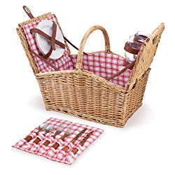 Picnic Time Piccadilly Willow Basket