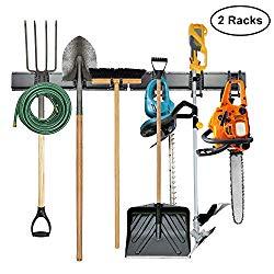 8 hook steel tool rack