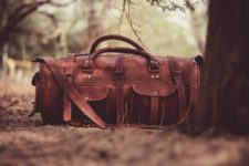 leather Overnight Bag mens