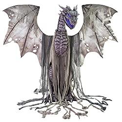 Halloween Silver Dragon Animatronic