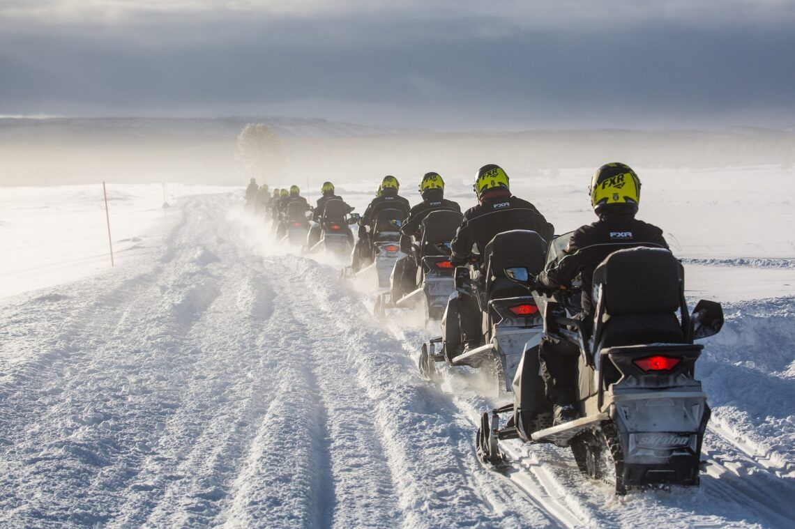 Guided snowmobile tour