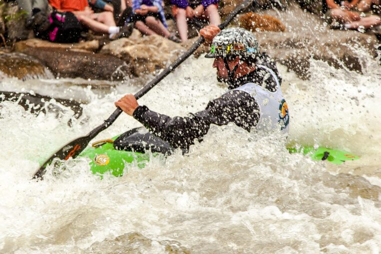 Kayaker in Whitewater Park