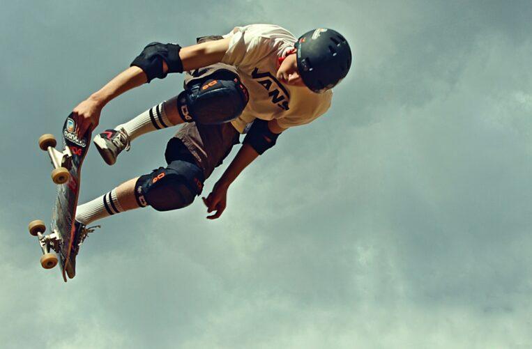Skateboarder in Skate Board Park