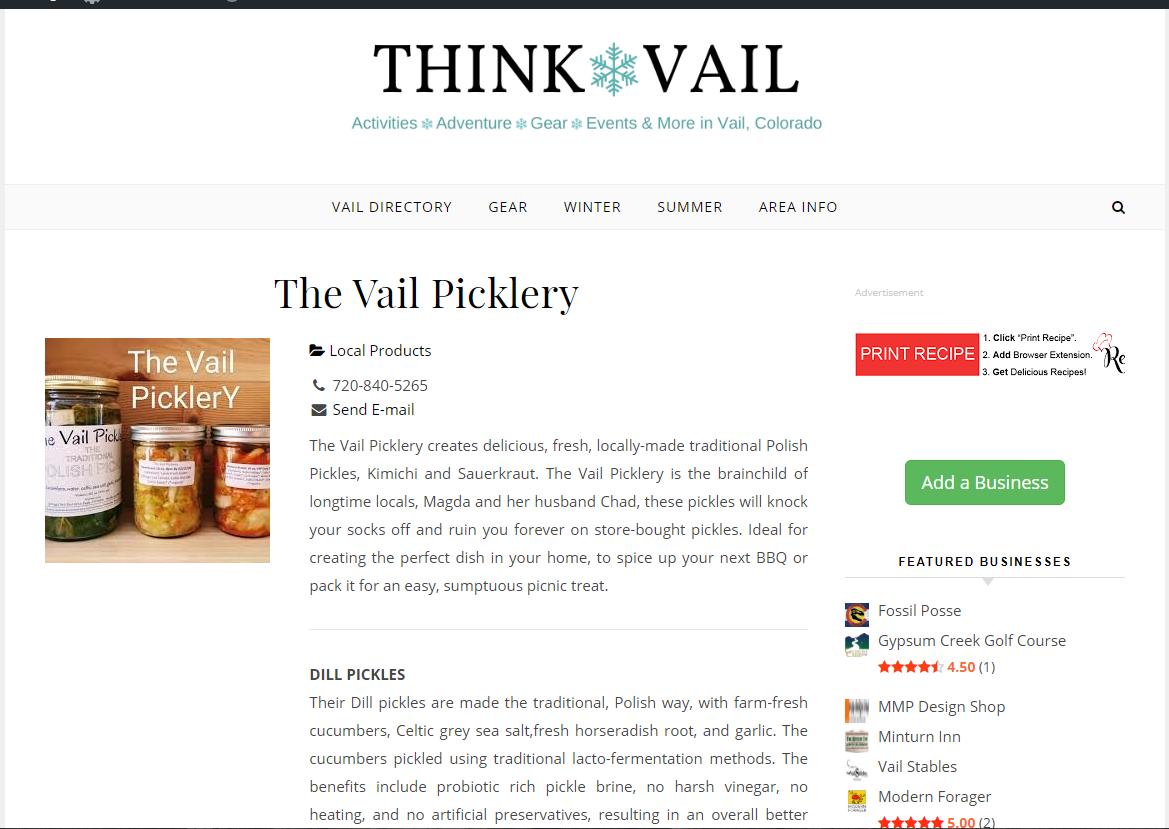 Thinkvail listing