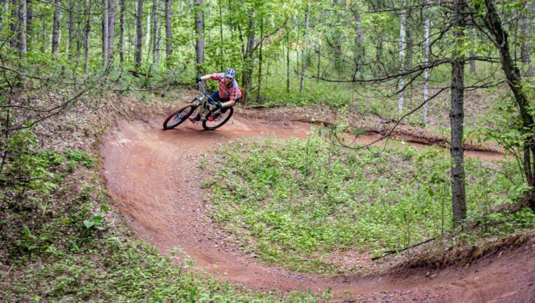 Biker on a Pump Track