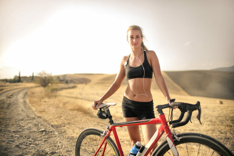 Woman wearing Bike Skirt