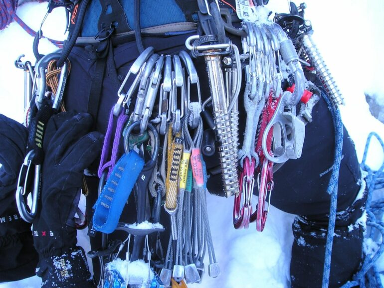 Climber with Gear
